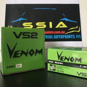 VENOM ABRASIVE SANDING DISCS-1 box 100pcs 150mm -40Grit